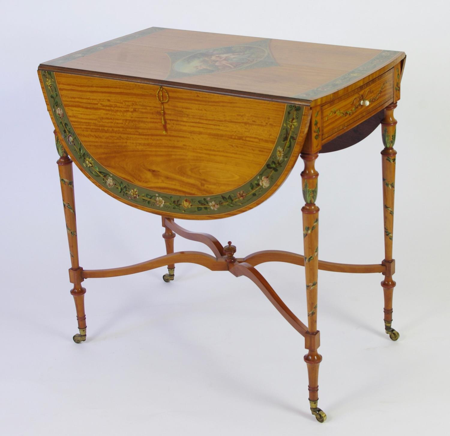 Satinwood Drop Leaf Table