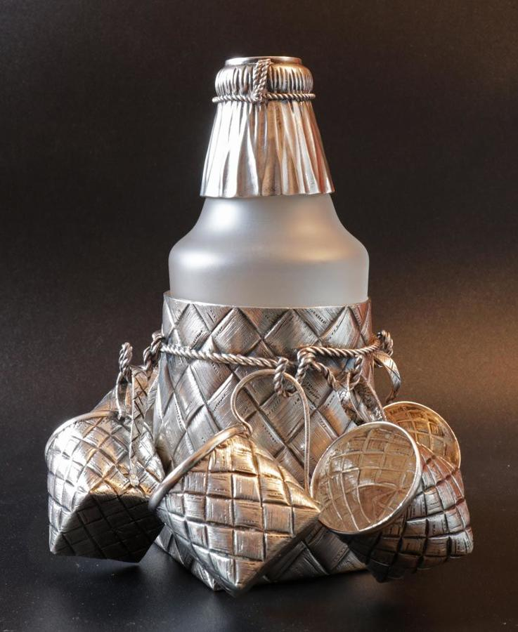 Russian Silver Tompe-L'œil Vodka Set