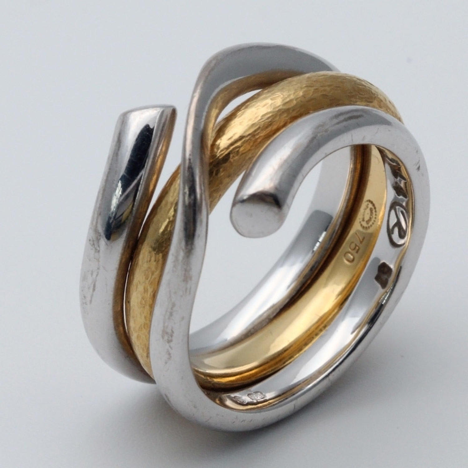 Georg Jensen 18ct Gold Double Ring