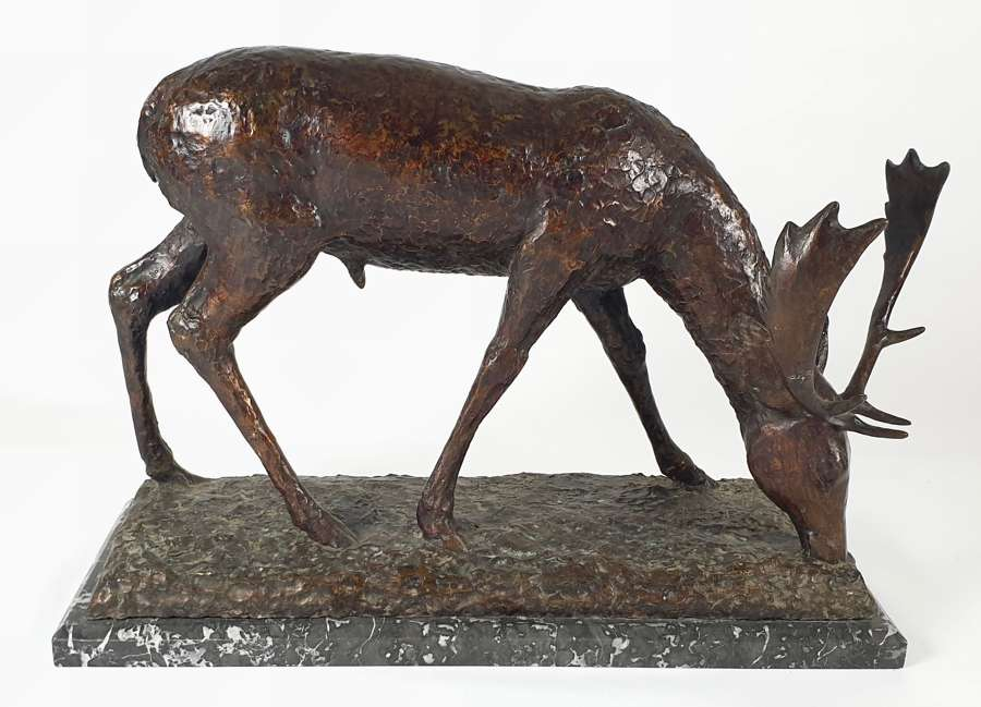 Large Bronze Stag