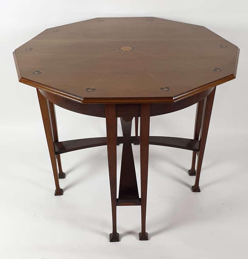 Art Nouveau Hexagonal Table