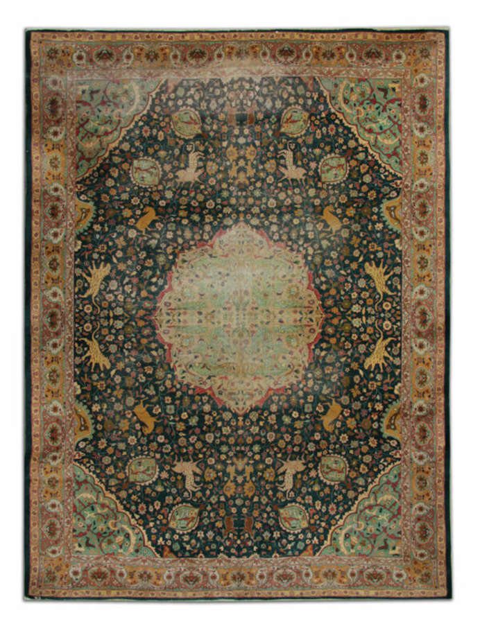Antique Agra Carpet Antique Rug Indian Agra