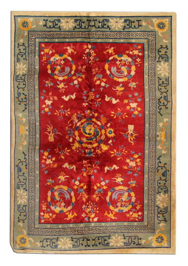 Antique Carpet Chinese Rug From Tebat