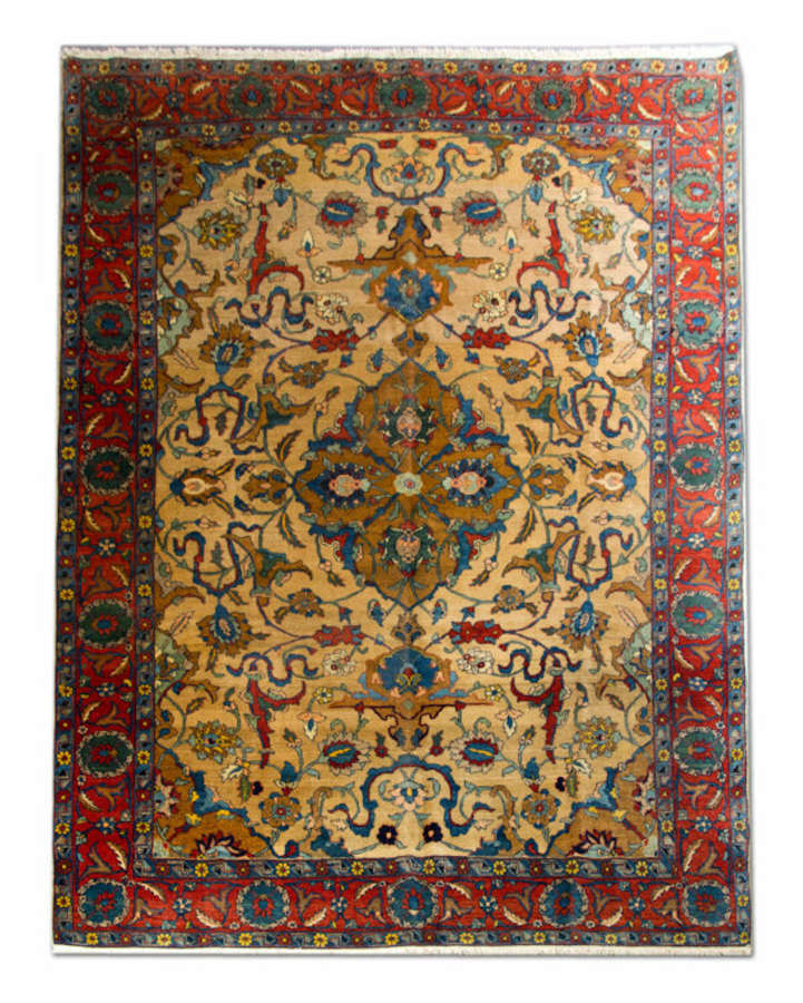 Antique Carpet, Antique Rugs, Persian Tabriz Carpet