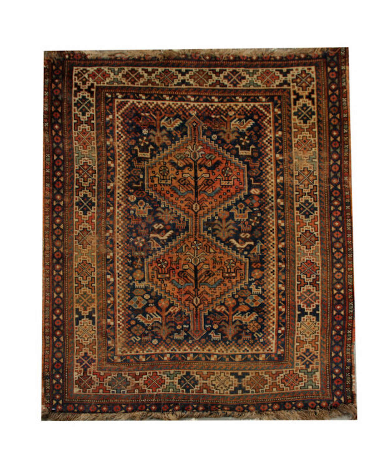 Antique Carpet, Persian Hand Woven Rug, Tribal Rug By Khamseh