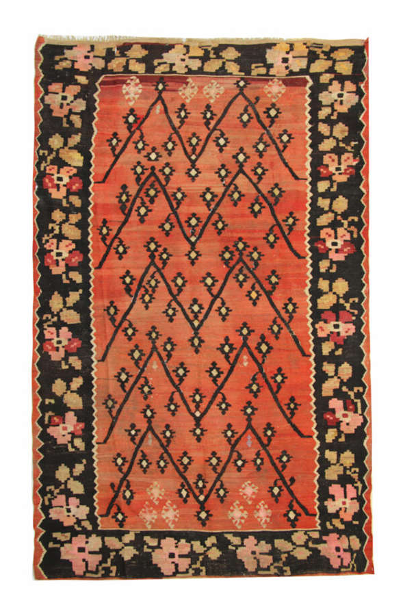 Antique Caucasian Karabagh Kilim