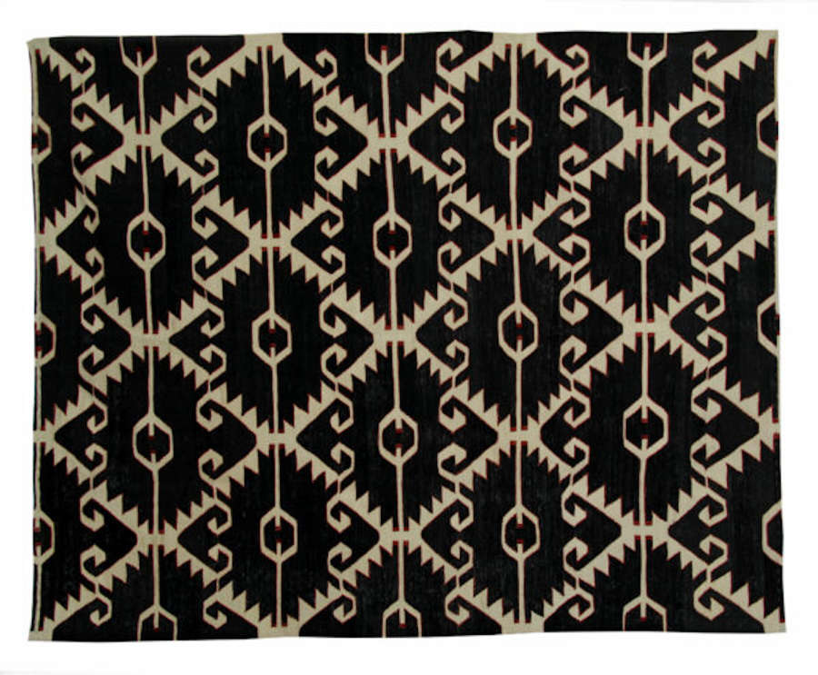 Black And White Rug -Kilim