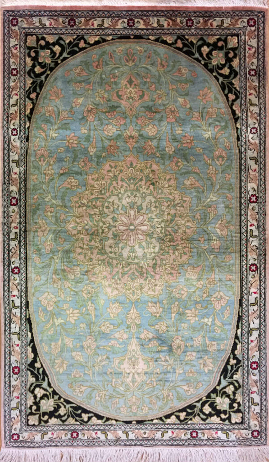 Silk Rugs, Persian Silk Rugs From Qum