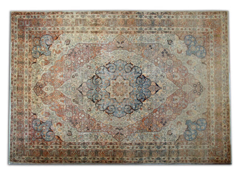 Antique Persian Haj Jalili (Tabriz) Carpet