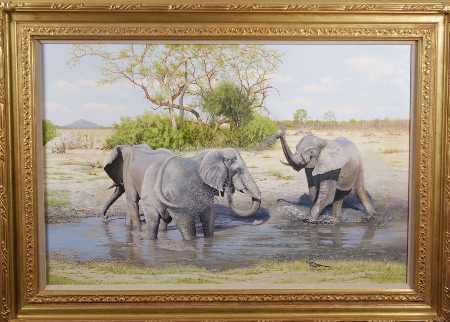 YOUNG BULL ELEPHANTS ~ WILLIAM HENRY BISHOP