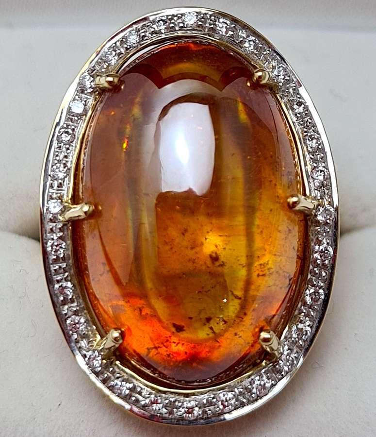 Sphalerite & Diamond Ring