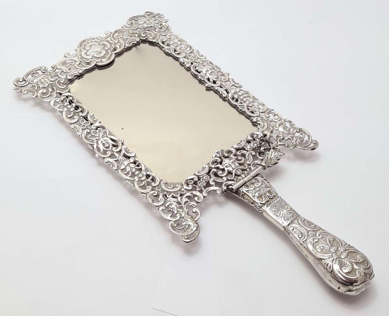 Amusing Convertible Silver Mirror