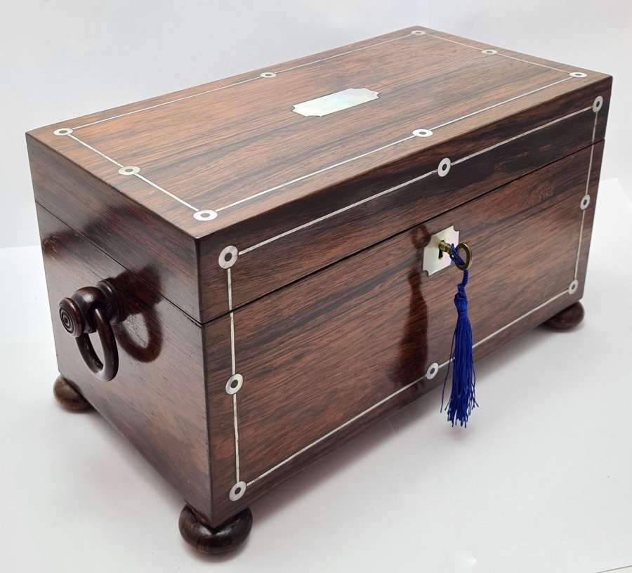Veneered Rosewood Tea Chest