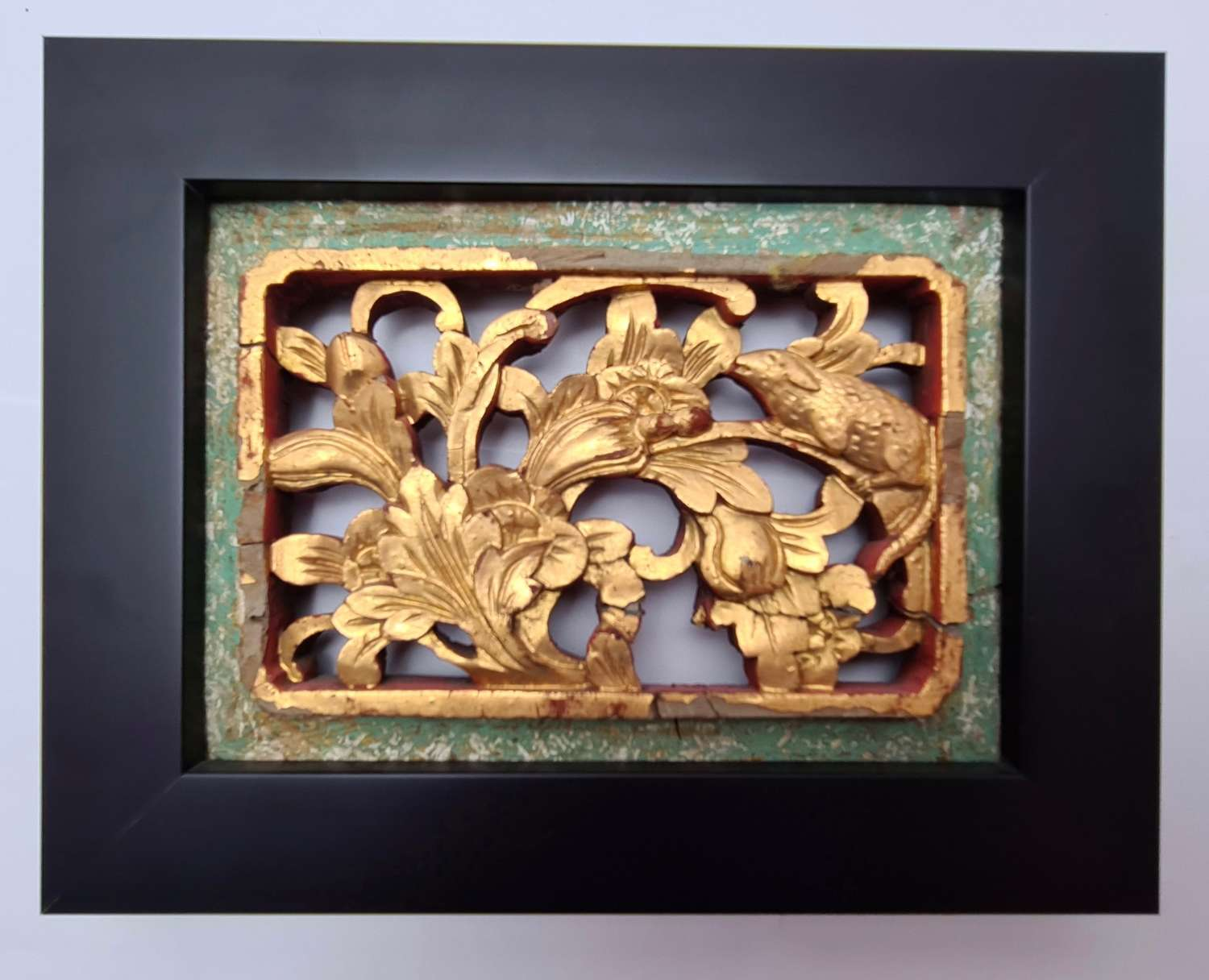 Chinese Carved Gilded Wall Panel
