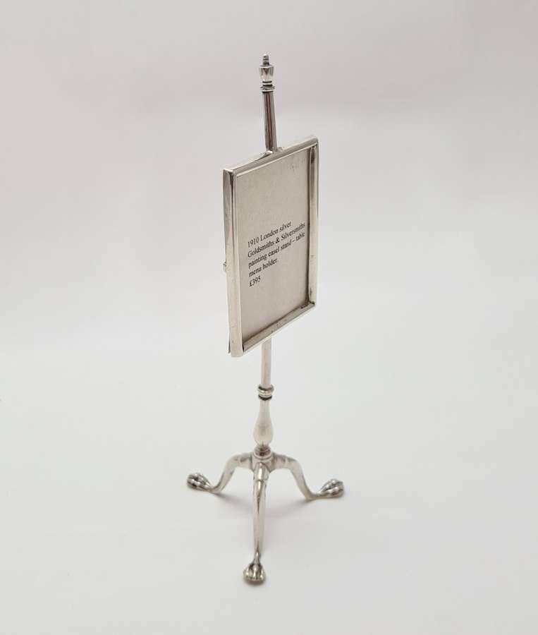 Silver Table Menu Holder