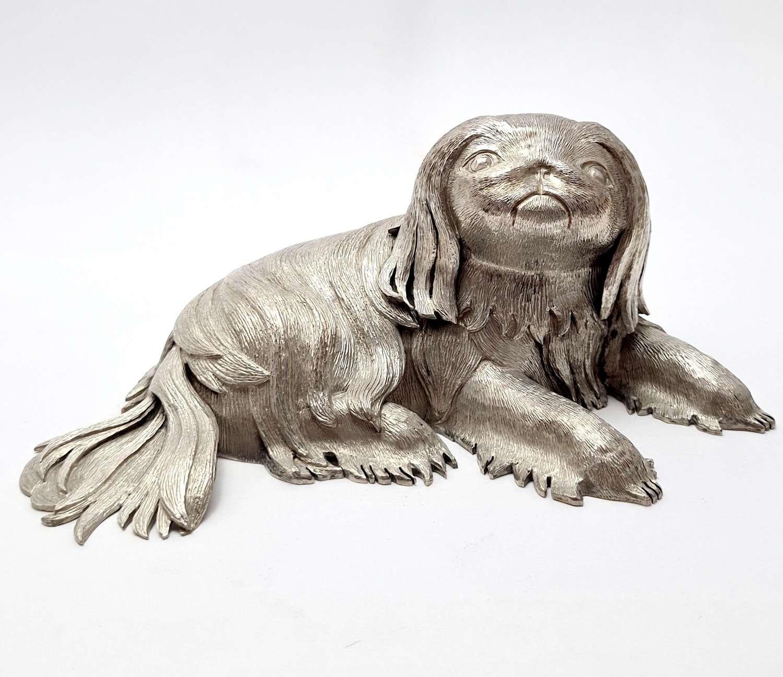 Silver Model of Pekingese Dog