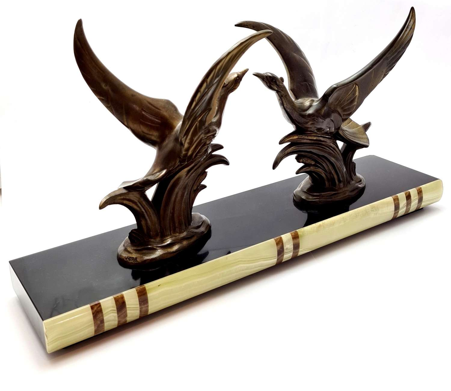 Pair of Spelter Birds