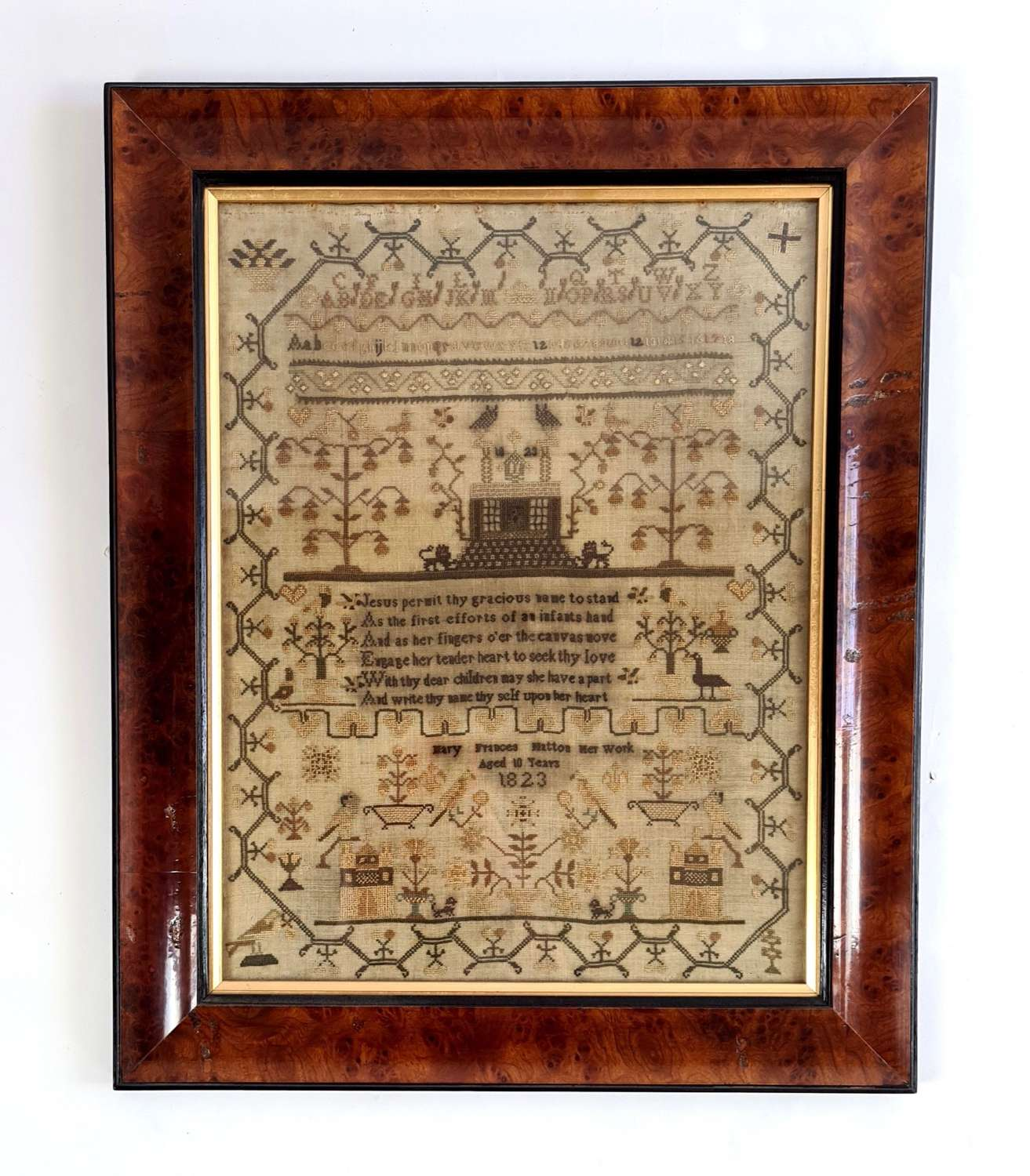 Sampler by Mary Frances Hatton