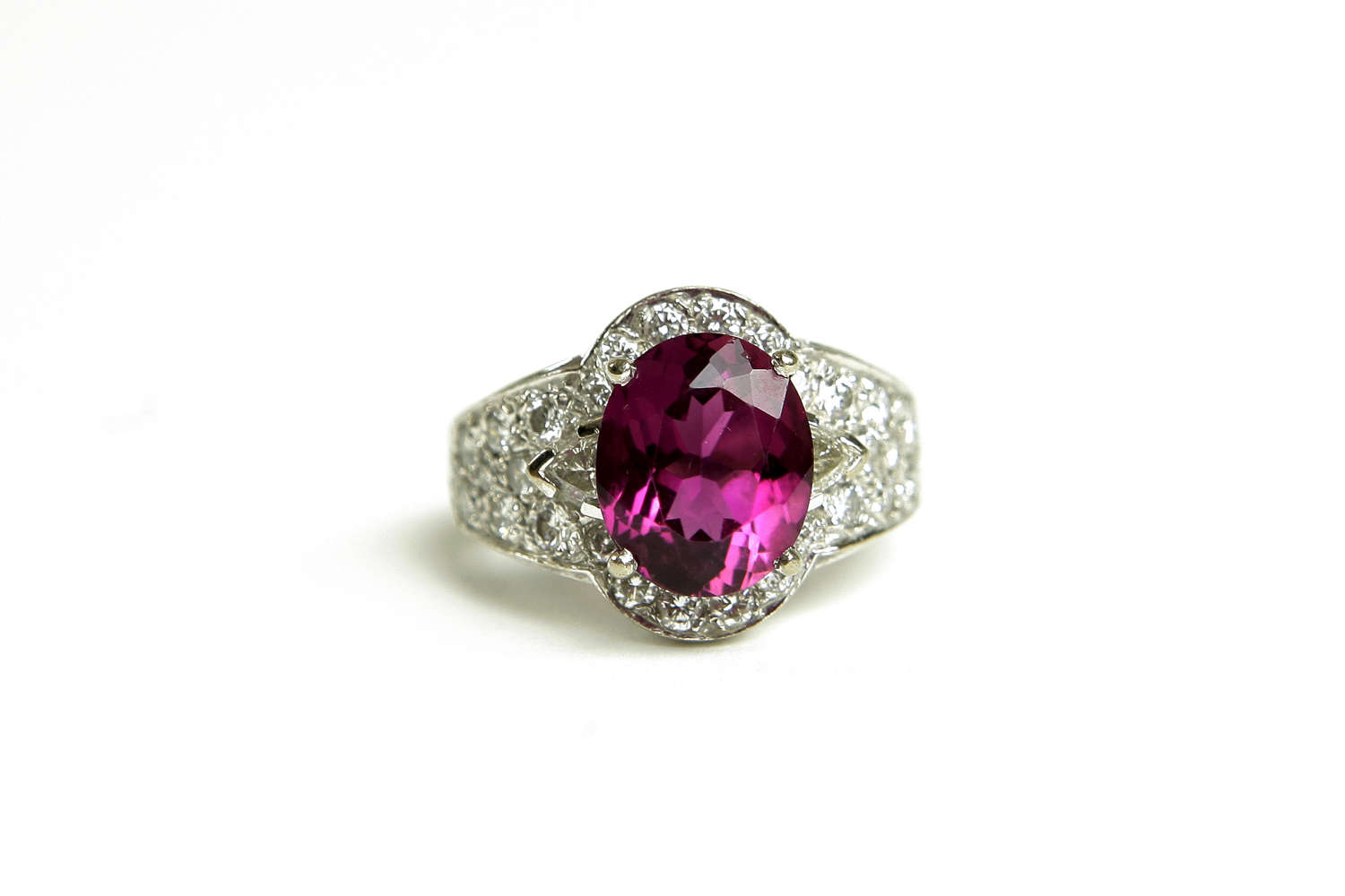 Pink Tourmaline & Diamond Dress Ring