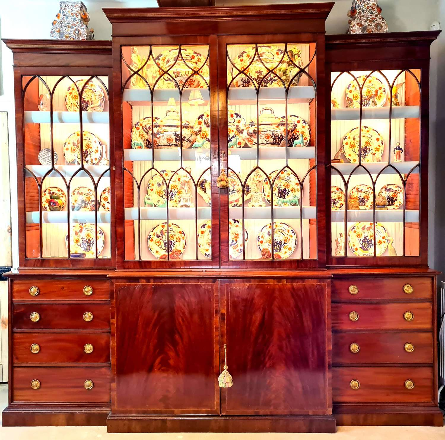 A George III Breakfront Library Bookcase
