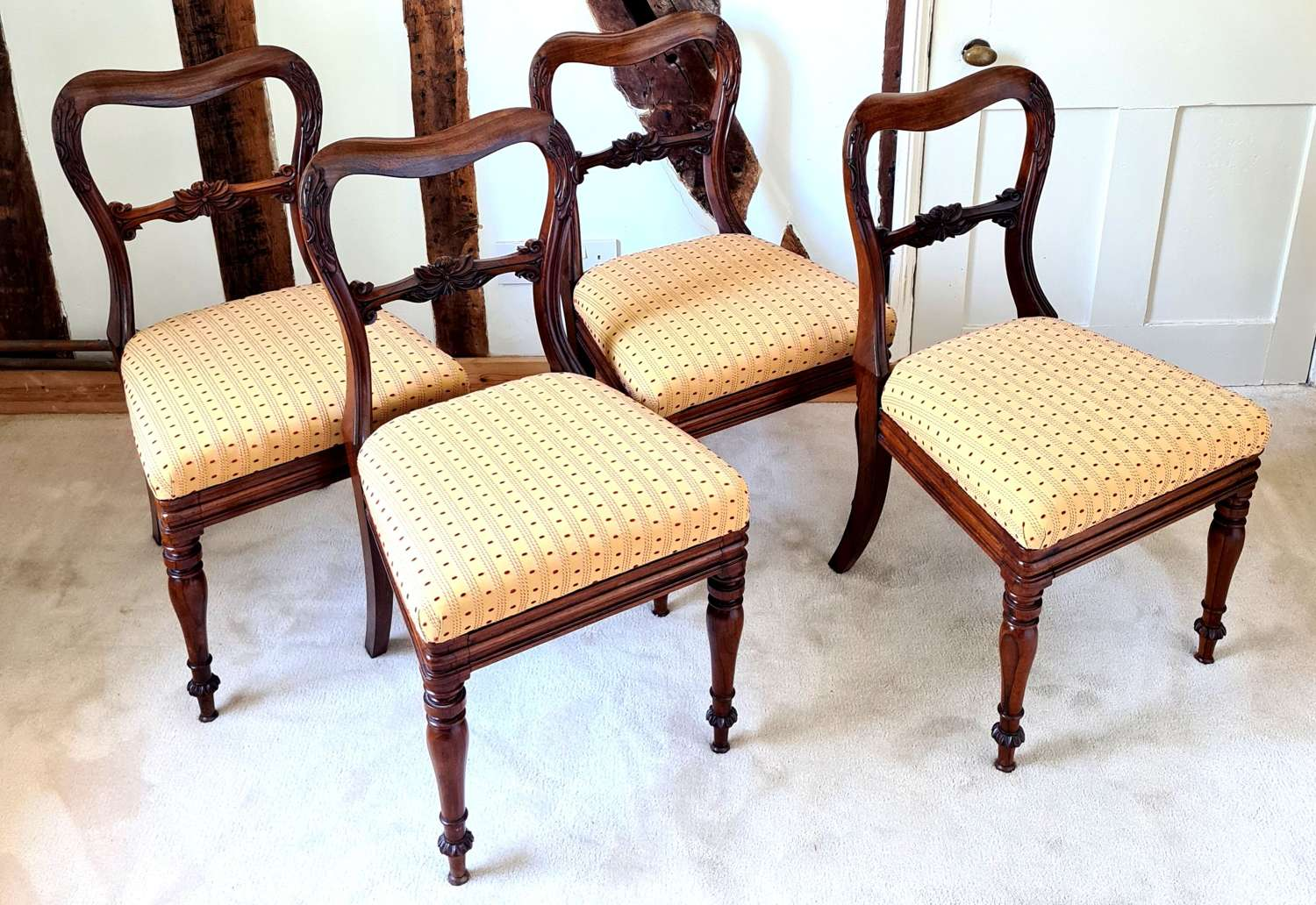 Four Victorian  Dining Chairs