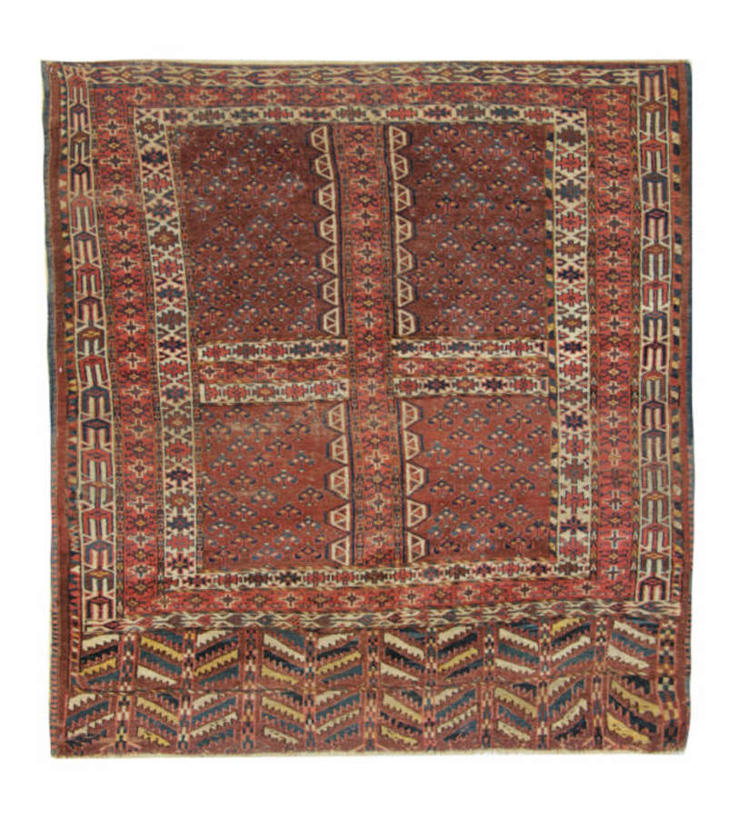 Antique Turkman Hatchlee Rug