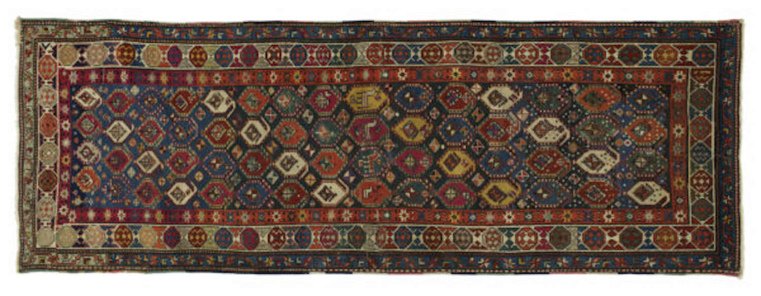 Antique Caucasian Karabagh Runner