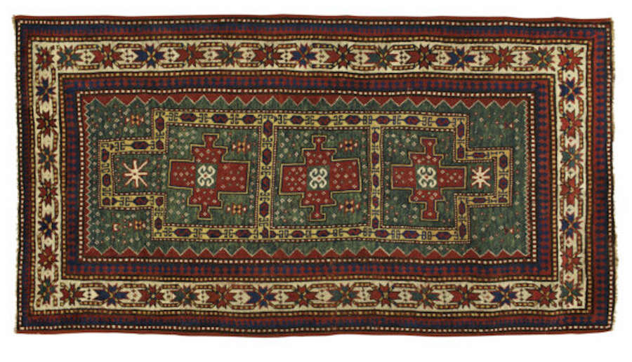 Antique Rugs, Persian Rug From Caucasian Kazak