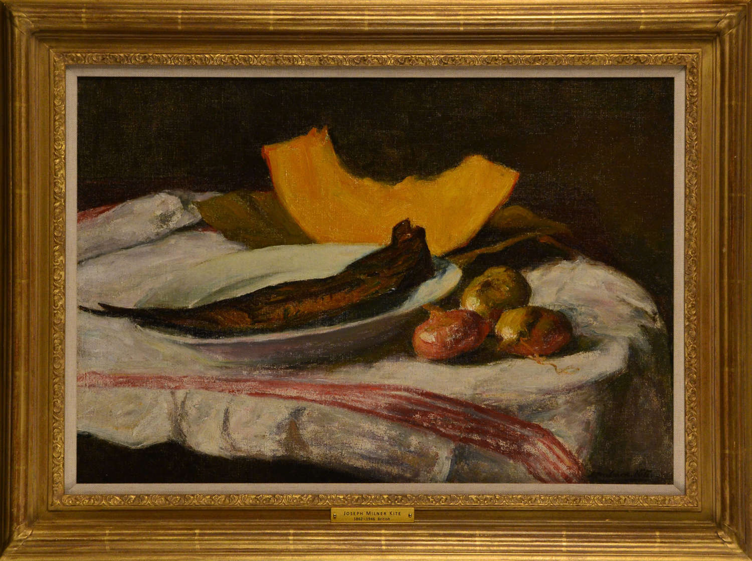 STILL LIFE OF SMOKED FISH ON A PLATE ~ JOSEPH MILNER KITE