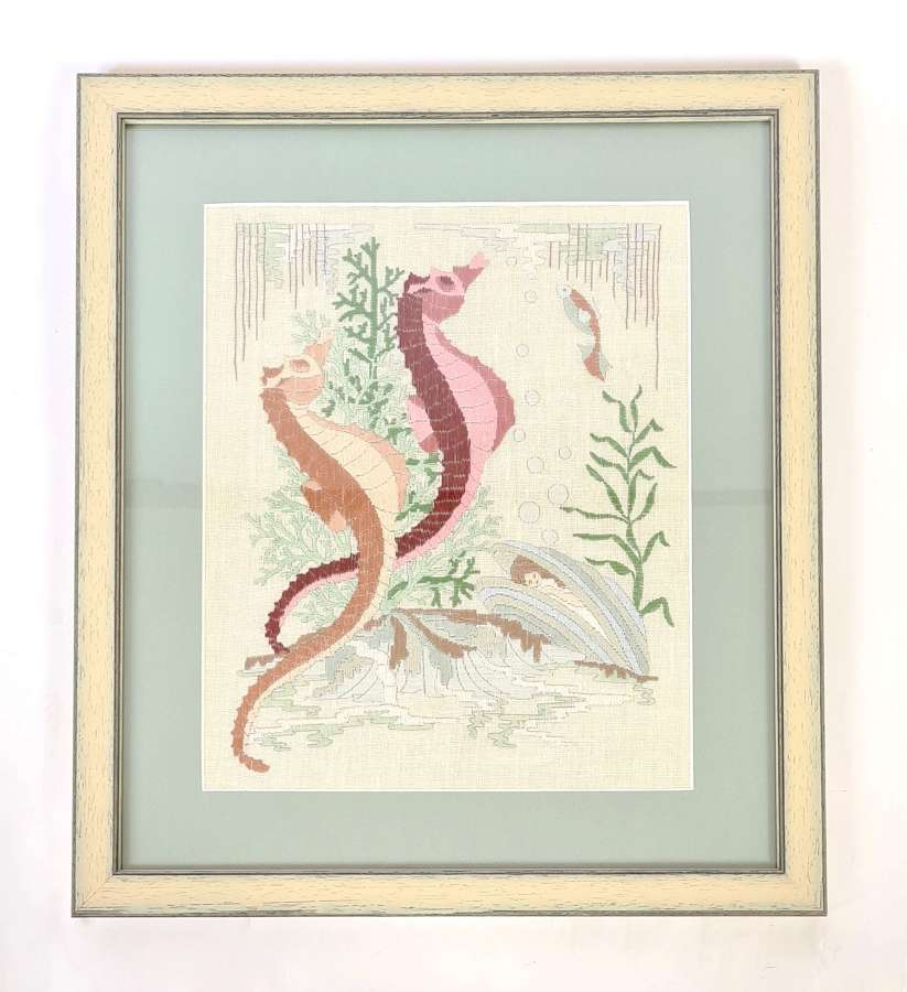 Sea Horses Embroidery
