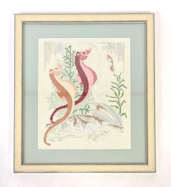 Sea Horses Embroidery