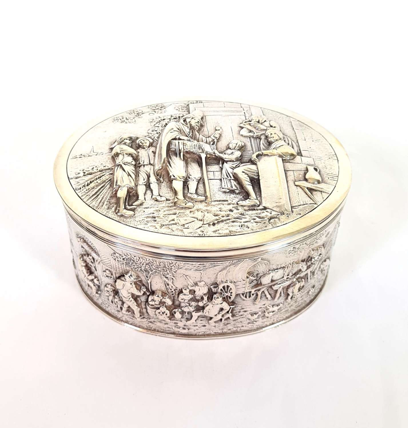 Dutch Silver Biscuit Box