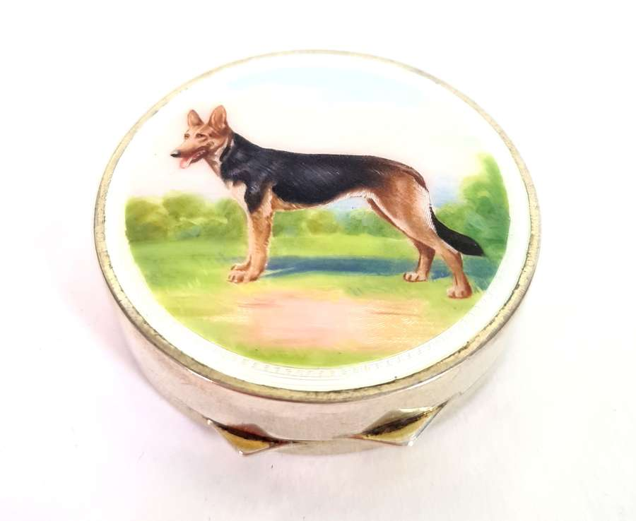 French Silver and Enamel Compact