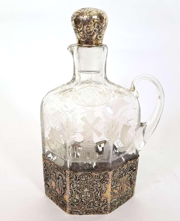 Silver Mounted Wine/Liqueur Jug