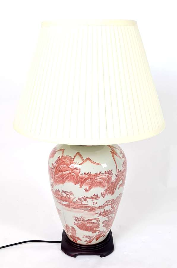 Large Porcelain Table Lamp