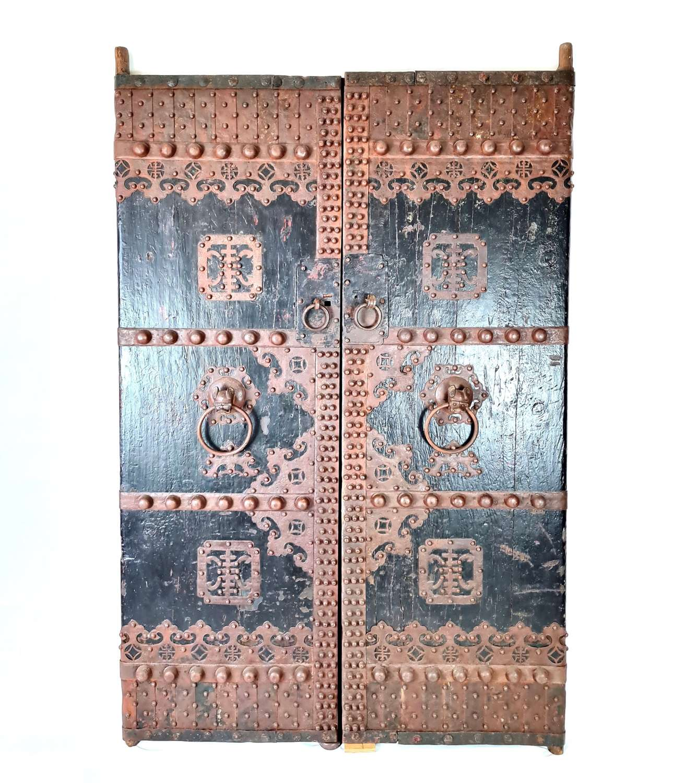Pair of Chinese Garden Gate Doors