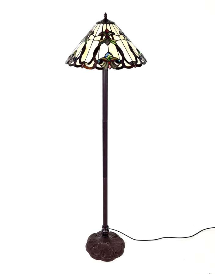 A Tiffany Style Standing Lamp