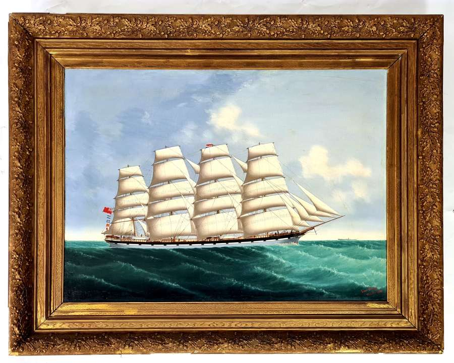 Lai Fong, Painting of Ship at Sea