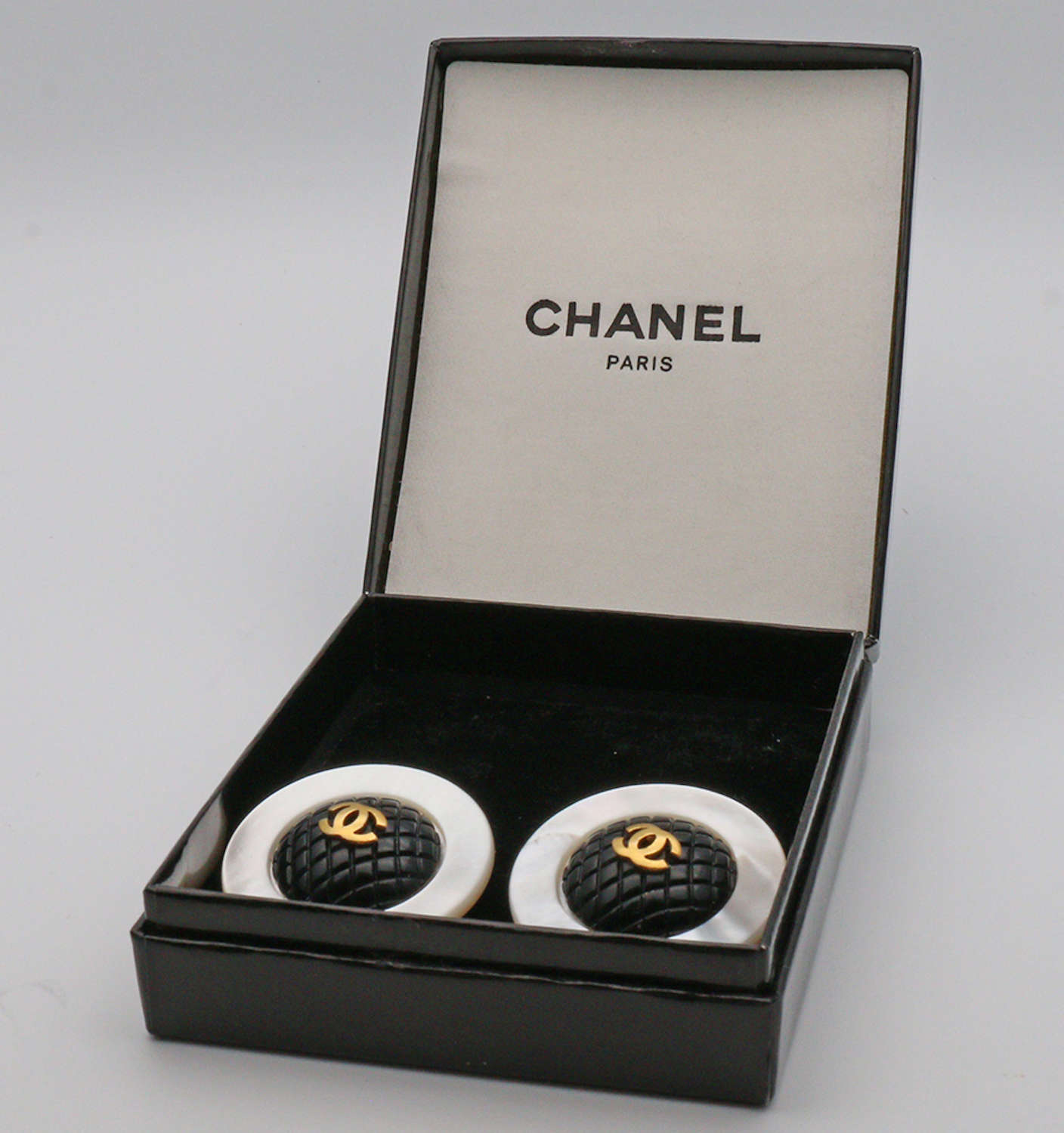 Chanel mother of pearl vintage ear rings