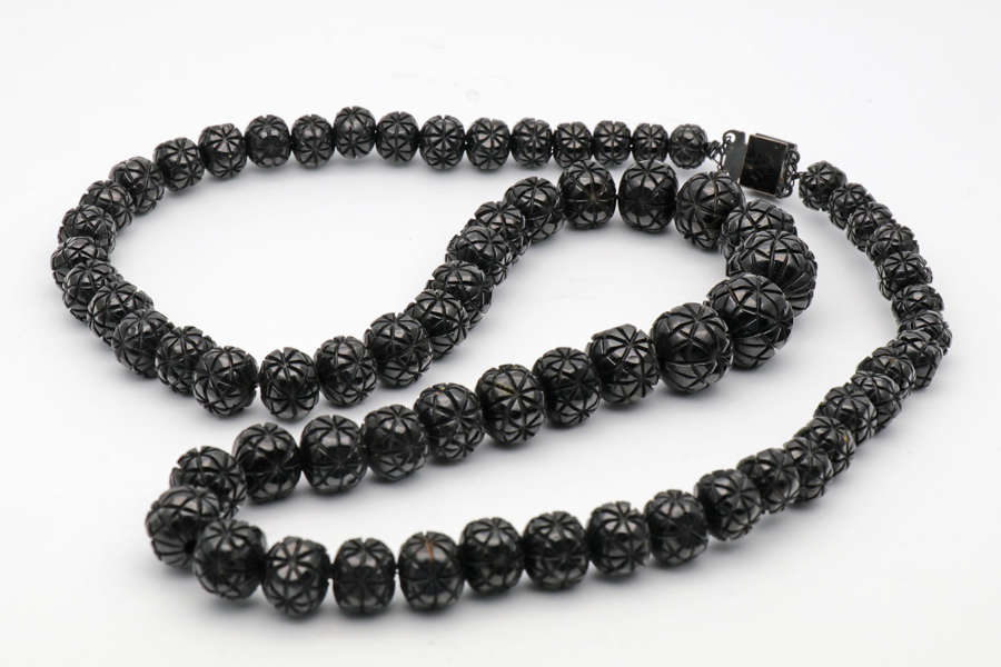 Whitby Jet necklace c. 1860
