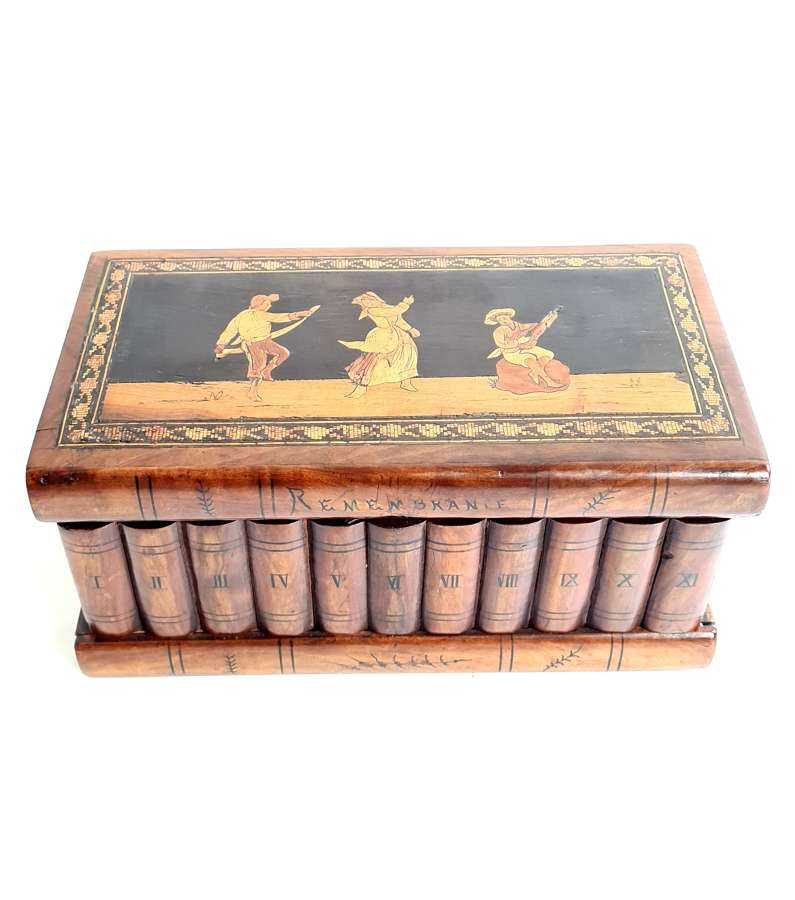 A Rare Sorrento and Olivewood Marquetry Box