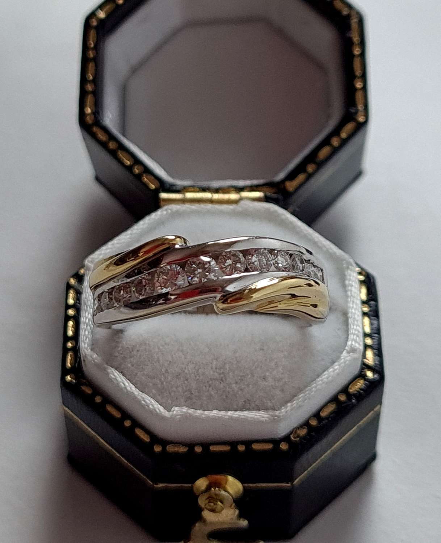 Yellow and White Gold Diamond Ring