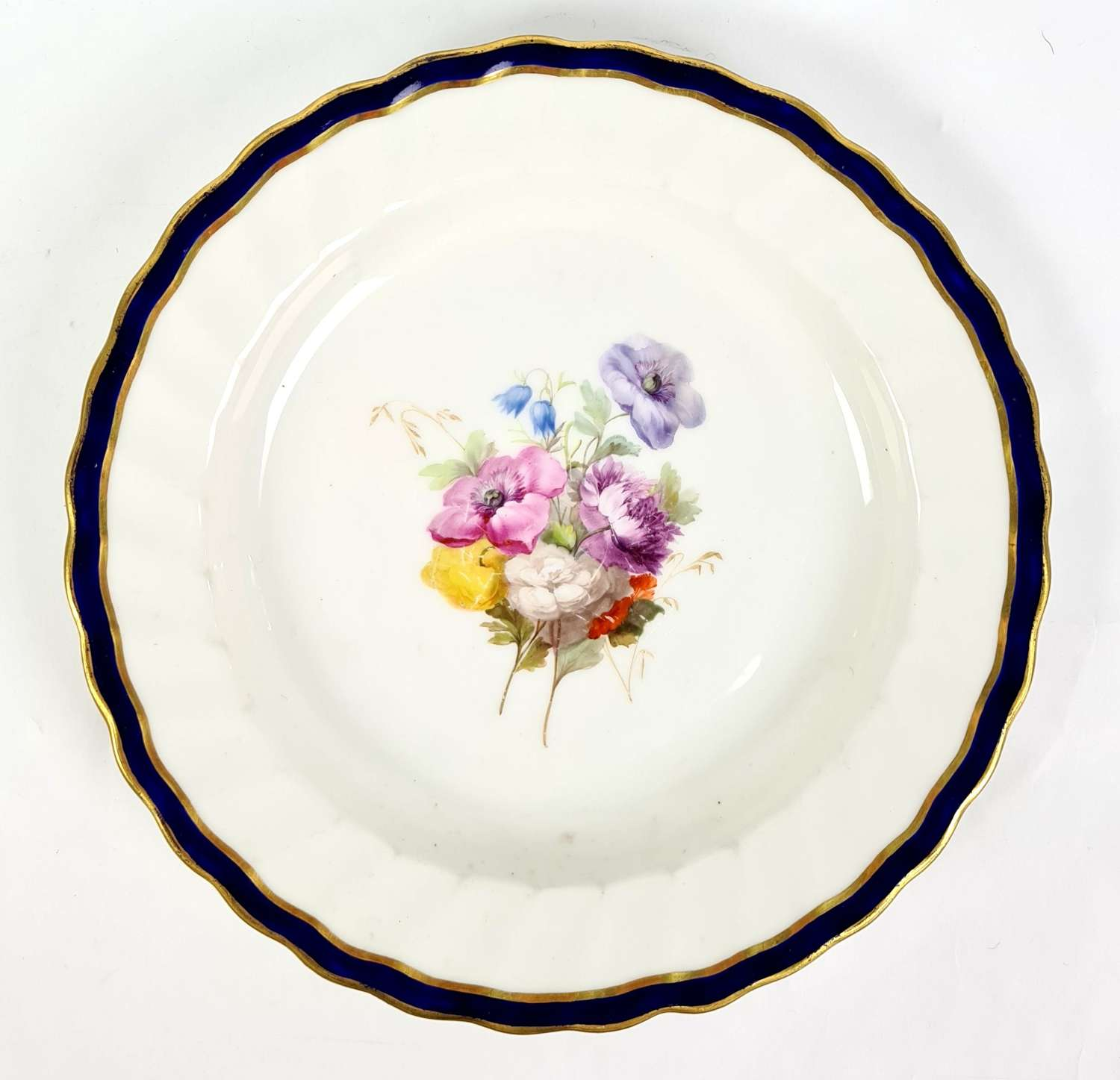 Derby Plate Decorated with Flowers