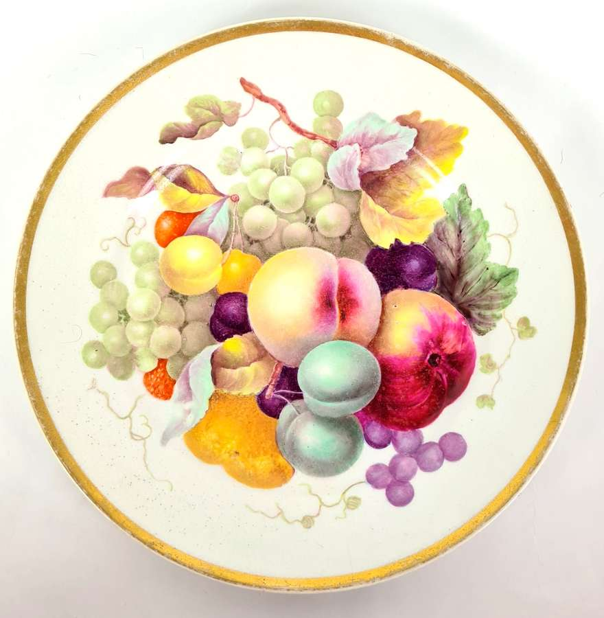 Derby Plate Decorated with Fruit