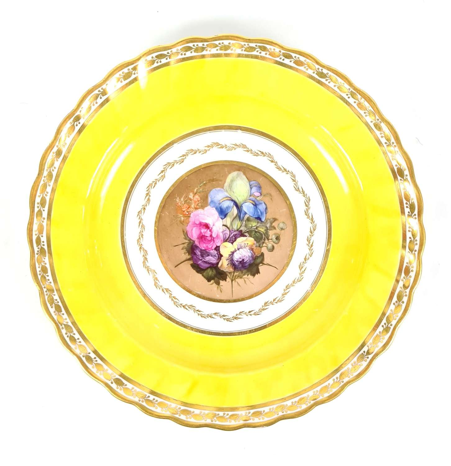 Derby Plate Rare Canary Yellow