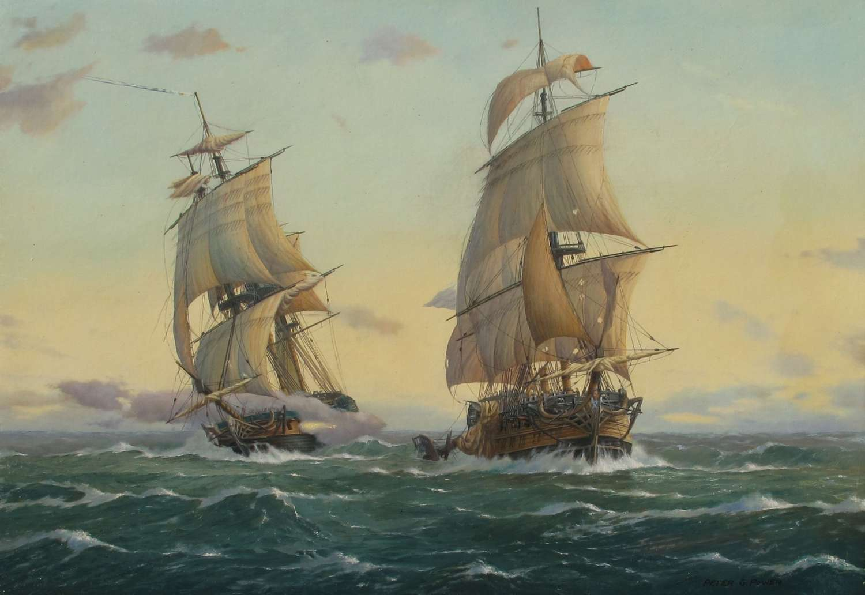 PETER POWER 1939-  Artist and Marine Art Historian.
