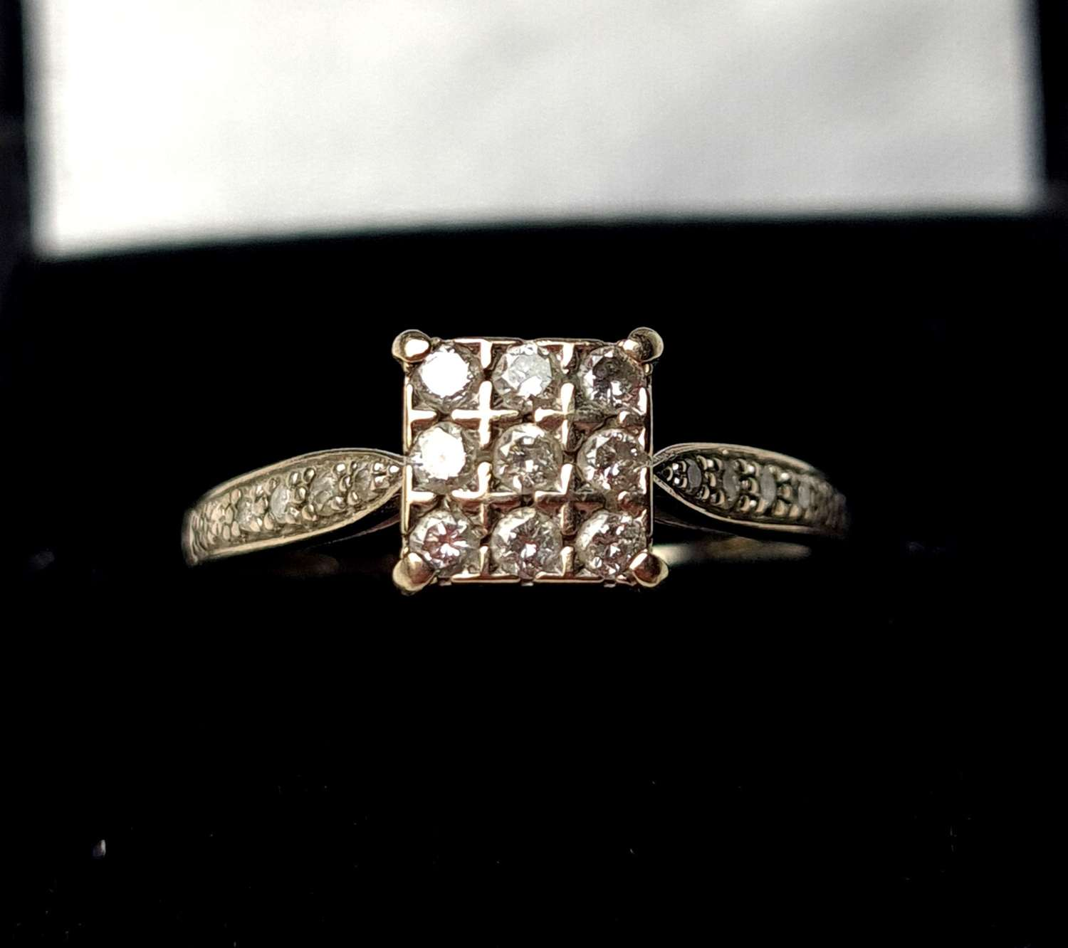 Square Shaped Diamond Ring