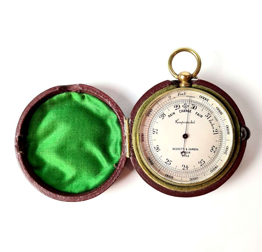 Pocket Barometer by Negretti & Zambra