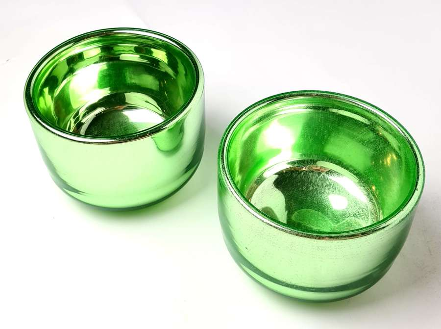 Pair of Varnish Glass Bowls