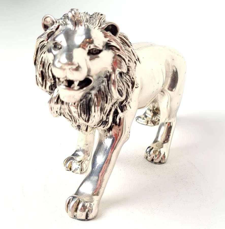 White Metal Lion